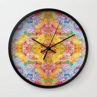 lsd Wall Clocks featuring LSD Flower by Zeus Design