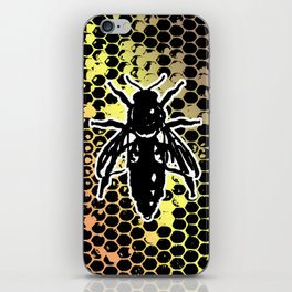 Geometrical Honeycomb & Bee iPhone Skin