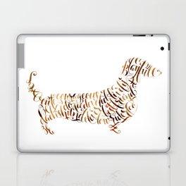 Dachshund Art Dachshund Portrait Dachsund Calligraphy Silhouette Laptop & iPad Skin