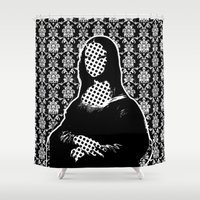 mona lisa Shower Curtains featuring Mona Lisa SW x2 by Marko Köppe