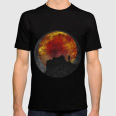 ash and fire Black MEDIUM Mens Fitted Tee