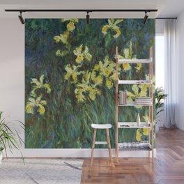 """Claude Monet """"Yellow irises"""" Wall Mural"""