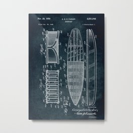 1948 - Surfboard Metal Print