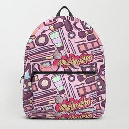 Makeup Print Backpack