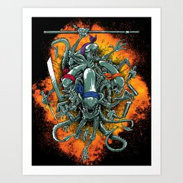 Bay's Alien turtles! Art Print