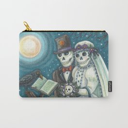 CEMETERY NUPTIALS - Susan Brack Skeleton Halloween Wedding Carry-All Pouch