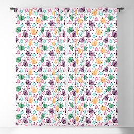 Freely Birds Flying - Fly Away Version 3 - Sangria Purple Dots Color Blackout Curtain