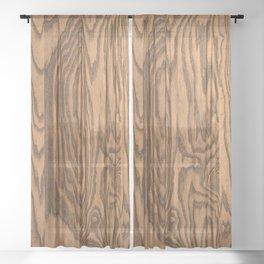Wood, heavily grained wood grain Sheer Curtain