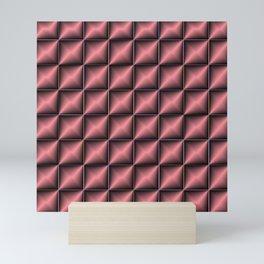 abstract pattern in  red, dark metal Mini Art Print