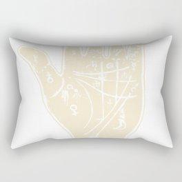 White palmistry hand Rectangular Pillow