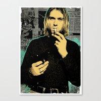 kurt rahn Canvas Prints featuring Kurt by Devolution Designs