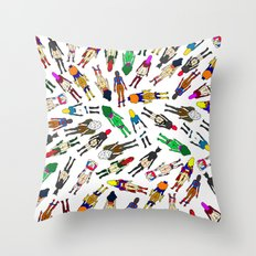 Superheroine Butts - Group Throw Pillow