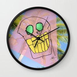 """""""Skull #3"""" (2017) Wall Clock"""