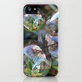 Flower bubbles iPhone Case