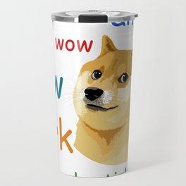 Doge Meme Travel Mug