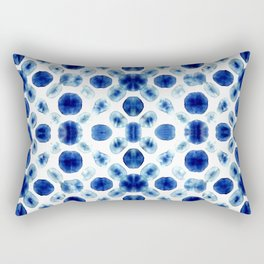 Shibori Circles Rectangular Pillow