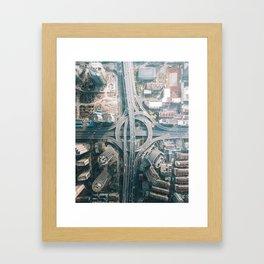 Shanghai Intersection Framed Art Print