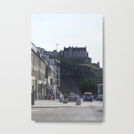 View of Edinburgh Castle from New Town Metal Print