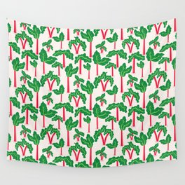 The rhubarb pattern Wall Tapestry