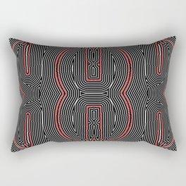 Maze Texture Red Black and White Design Rectangular Pillow