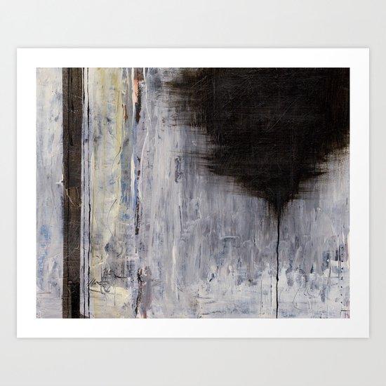 the thin black line Art Print