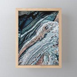 Blue Topography Dream Framed Mini Art Print