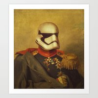 stormtrooper Art Prints featuring Stormtrooper  by Alex Malyon