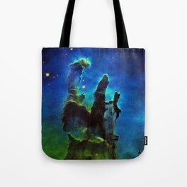 NEbula. : Teal Green Pillars of Creation Tote Bag