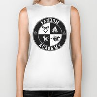 fandom Biker Tanks featuring Fandom Academy by Thg Fashion