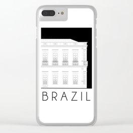 Brazil Facade Clear iPhone Case