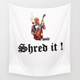 Shred it Skull guitar player  Wall Tapestry