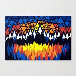 Triangulated Location Canvas Print