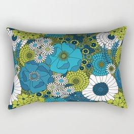 Vintage Florals Chrysanthemum Rectangular Pillow
