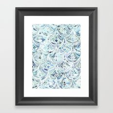 Ice and Diamonds Art Deco Pattern Framed Art Print