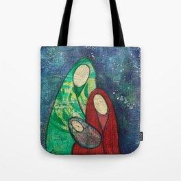 Folk Art Nativity Tote Bag