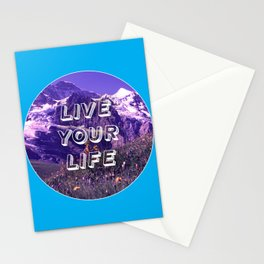 Live Your Life Stationery Cards