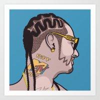 riff raff Art Prints featuring Riff Raff by Michael Walchalk