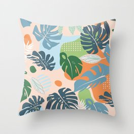 Graphic jungle drawing 202 Throw Pillow