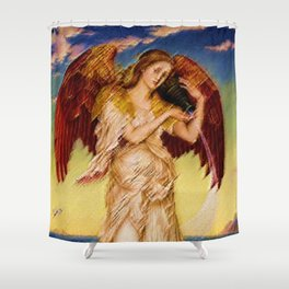 Classical Masterpiece 'Eos' by Evelyn de Morgan Shower Curtain