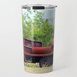 Rusty Old Work Truck Travel Mug