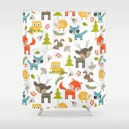 Woodland Animals Shower Curtain