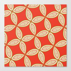 Christmas Tapestry: Red Canvas Print