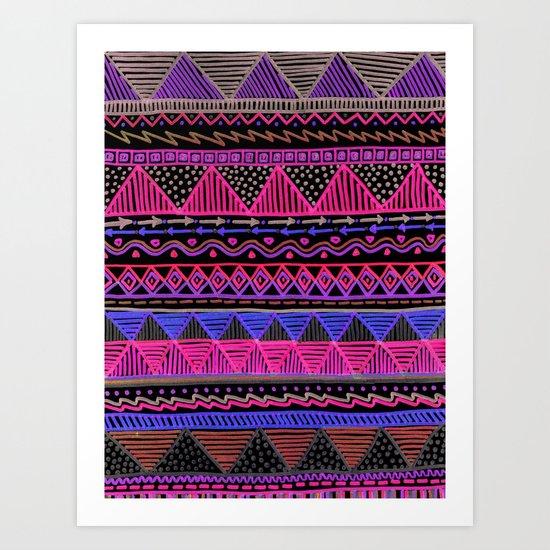 Ocean T Neon Art Print