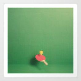 Paper Plane Pong Art Print