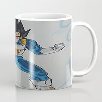 vegeta Mugs featuring Prince Vegeta by bmeow