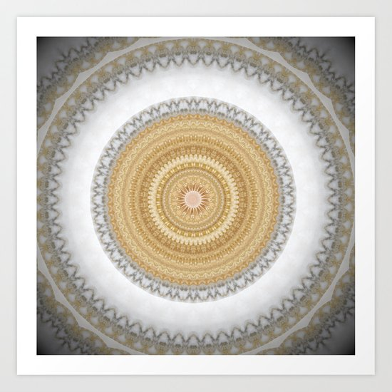 Gold white White and Silver Marble by artaddiction45