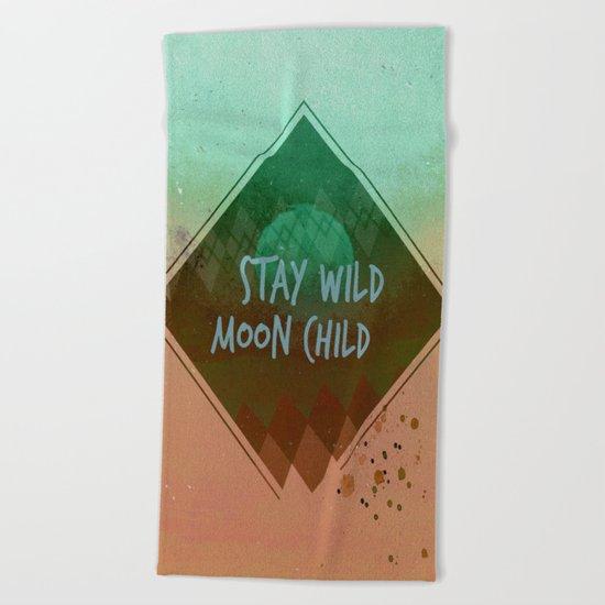 Stay wild vintage Beach Towel