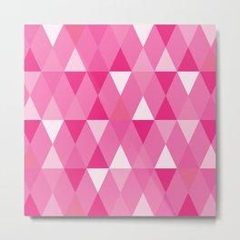 Harlequin Print Pinks Metal Print