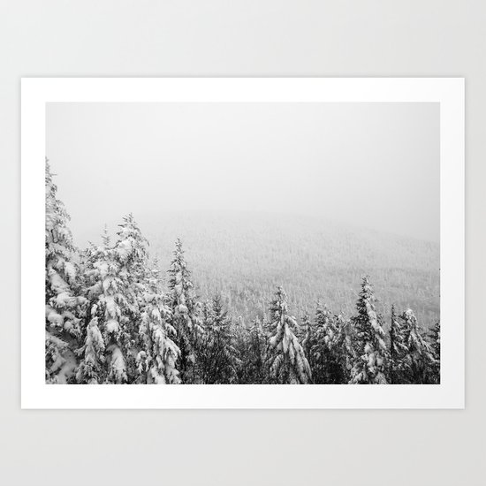 Winter vibes #evergreen #society6 Art Print