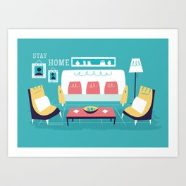 :::Minimal living room::: Art Print
